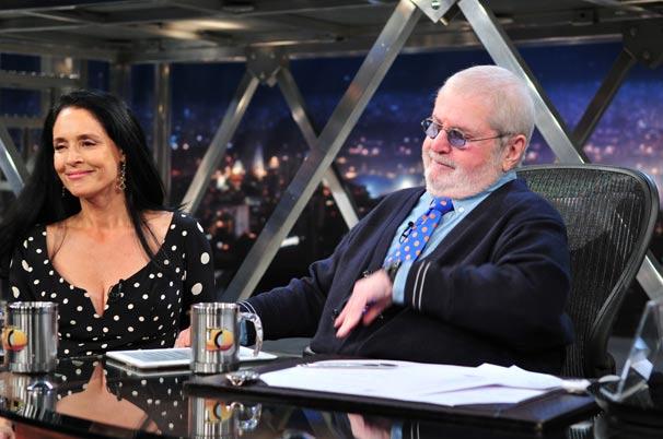 A atriz conversa com Jô Soares sobre sua carreira