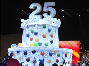 O bolo de comemoração dos 25 anos do Criança Esperança