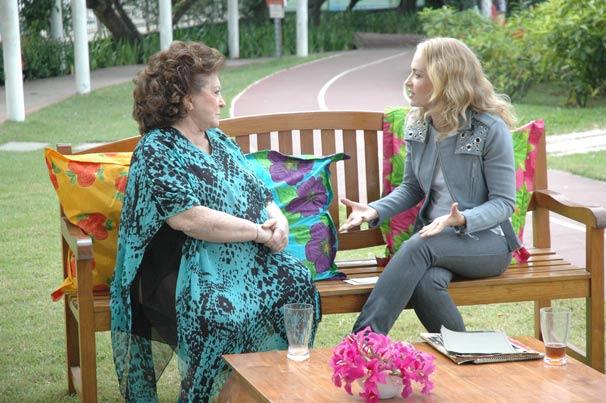 Thereza Rachel conversa com Angélica sobre a sua carreira de atriz
