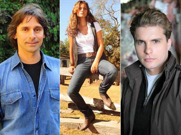 Solano (Murilo Rosa) e Vitor (Thiago Fragoso) querem Manuela (Milena Toscano)