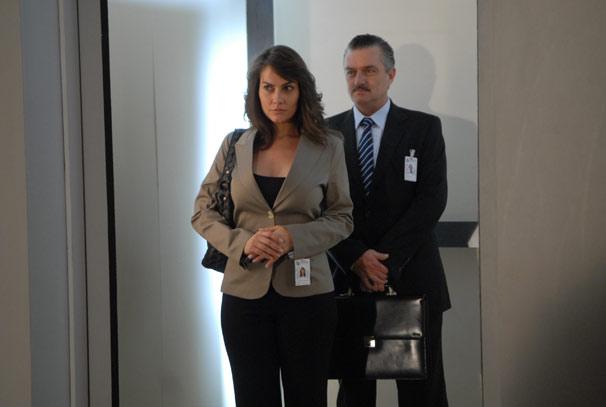 Laura (Adriana Prado) e Saulo (Werner Schüneman)