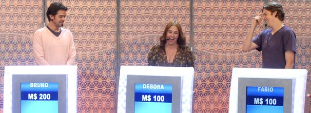 Bruno Mazzeo, Debora Lamm e Fábio Porchat competem no Vídeo Game