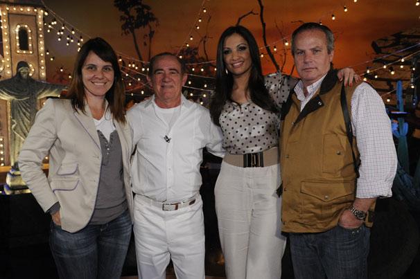 Teresa Lampreia , Renato Aragão , Patricia Poeta e Jayme Monjardim