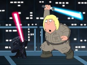 Peter faz um remake de Star Wars em sua casa