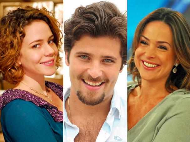 Leandra Leal, Bruno Gagliasso e Gabriela Duarte respondem perguntas dos atores de Clandestinos