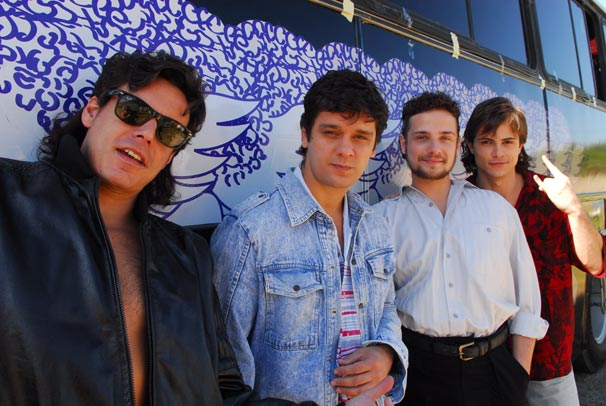 Paulo Ricardo (João Gevard), Luís Schiavon (Ricardo Monastero), Fernando Deluqui (Pierre Santos) e Paulo Pagni (Bruno Martins)