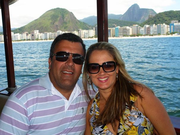 Lilian Rengel e Ullysses curtem um final de semana tipicamente carioca