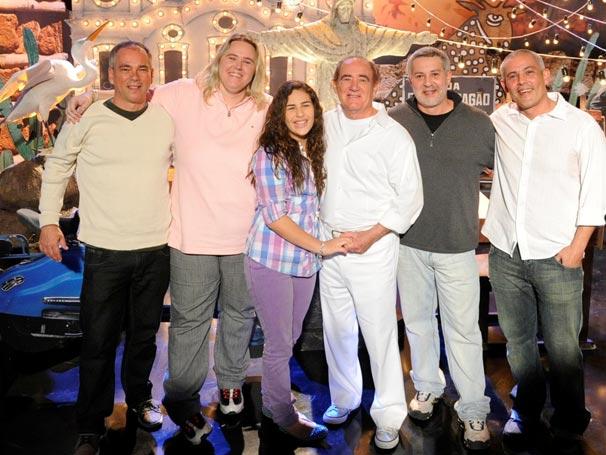 Paulo, Juliana, Livian, Ricardo e Duda visitaram os estúdios