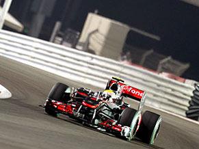 Hamilton no treino da F-1 em Abu Dhabi
