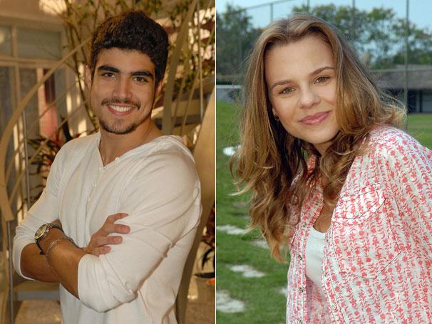 Caio Castro e Daniela Carvalho