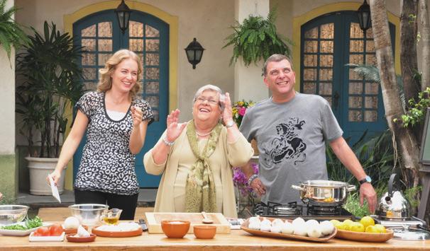 Jorge Fernando e a mãe, Hilda, participam do quadro Sabores