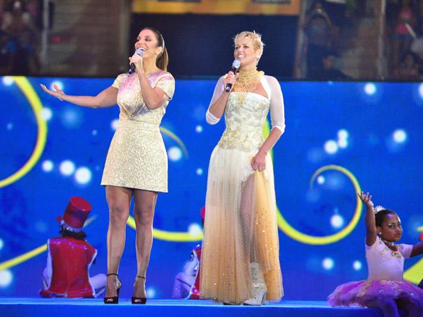 Xuxa recebe a cantora Ivete Sangalo
