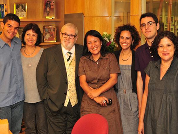 Paulo, Cybele, Jô Soares, Samatha, Liliane, Rodrigo, Simone