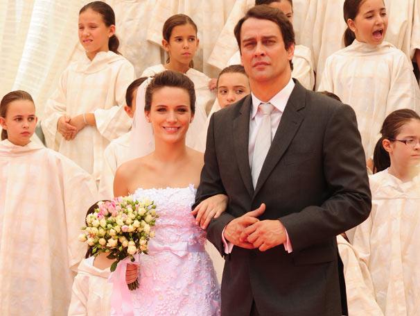 Gerson (Marcelo Antony) levou Fátima ao altar