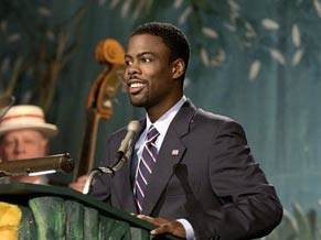 Chris Rock interpreta o aspirante a presidência Mays Gilliam