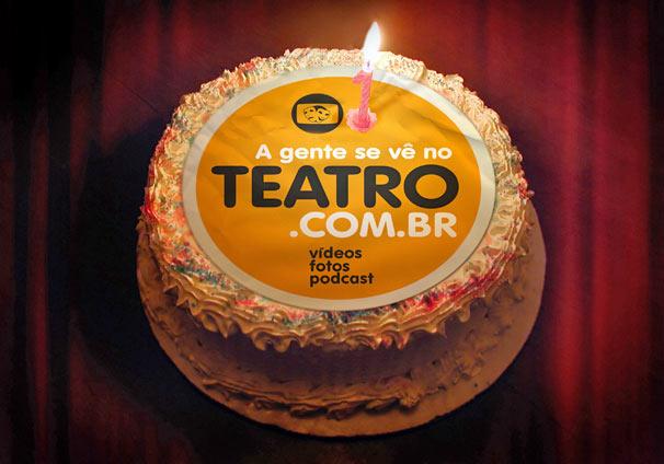 A Gente se Vê no Teatro, site da Rede Globo dedicado aos palcos, comemora um ano e ganha anúncio que sairá em veículos impressos