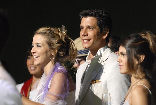 Rodolfo (Márcio Garcia) e Paula (Christine Fernandes) no reveillón de Diversão.com