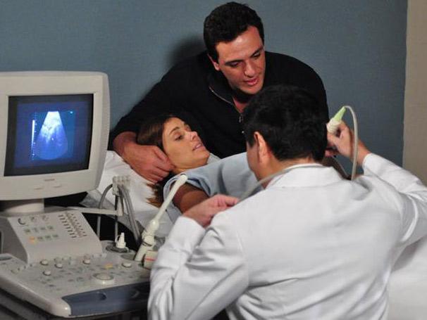 Em Passione, Diana (Carolina Dieckmann) foi uma das grávidas em 2010