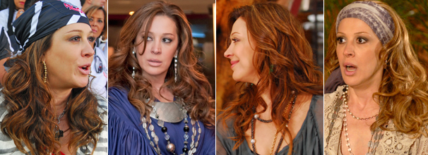 Os cabelos da atriz Claudia Raia, que interpreta Jaqueline na novela Ti-ti-ti, foram os mais cobiçados de 2010