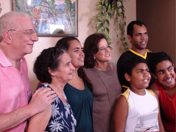 Nanini e Marieta com Roberto e toda sua família