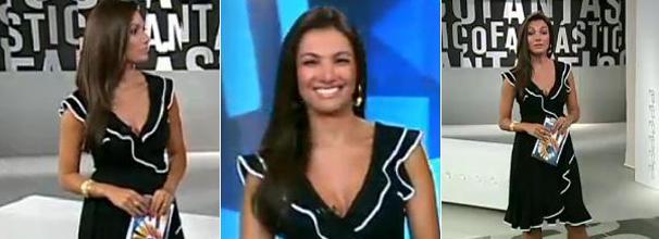 O vestido preto, da Folic, foi o figurino preferido dos telespectadores no ano de 2010