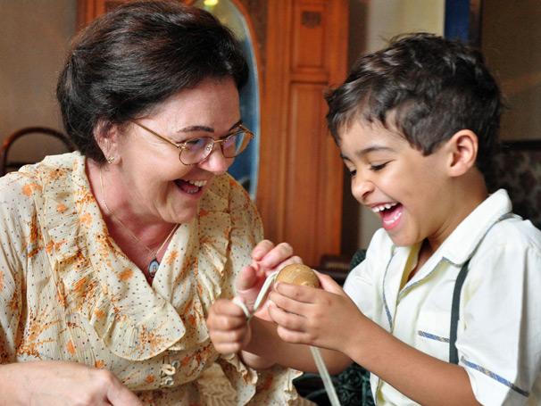 Prazeres Barbosa interpretou a mãe de Renato Aragão e o ator Frank William, fez o humorista aos quatro anos