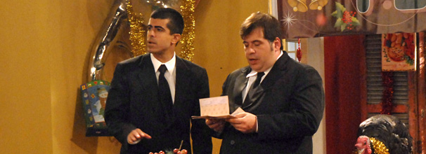 Jorginho (Leandro Hassum) e Pedrão (Marcius Melhem) aprontam no Natal