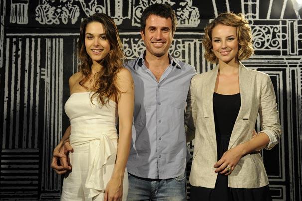 Eriberto Leão, Fernanda Machado e Paola Oliveira estavam presentes na apresentação de Insensato Coração