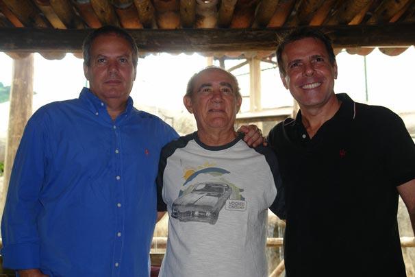 O diretor de núcleo Jayme Monjardim ao lado de Renato Aragão e do diretor-gerão Marcus Figueiredo