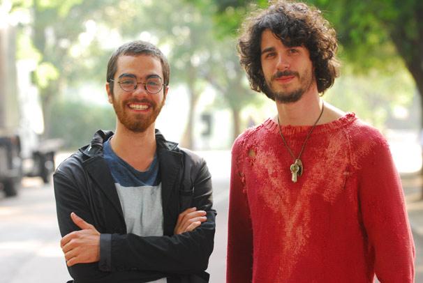 Otto ( Bernardo Marinho ) e Pedro ( Pedro Neschling )