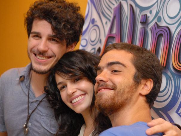 O trio reunido