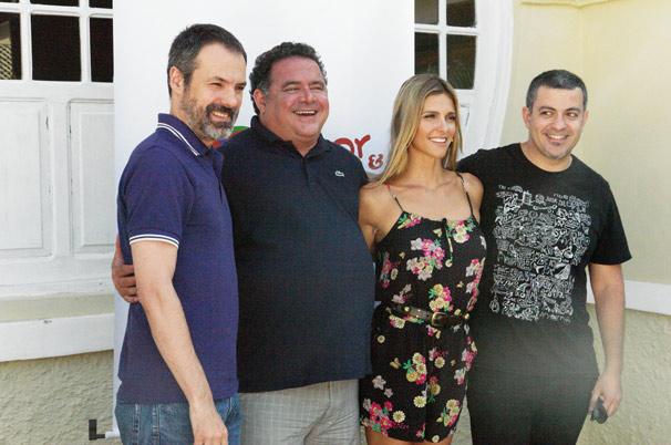 Ricardo Waddington, Leo Jaime, Fernanda Lima e Rafael Dragaud