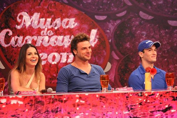 Stephany Brito, Cássio Reis e Diego Hypólito foram o júri da primeira etapa do Musa do Carnaval 2011