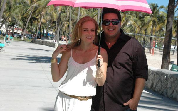 Angélica e André Marques passeiam por Miami (Foto: TV Globo/Debora Montenegro)