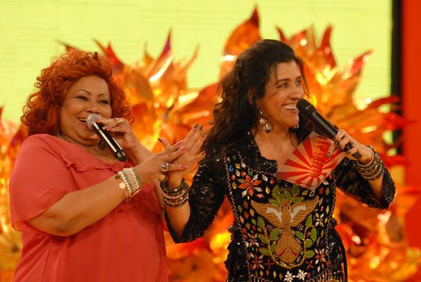 Regina Casé e Alcione (Foto: TV Globo / Alex Carvalho)