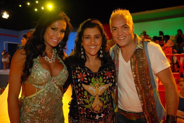 Gracyanne e Belo também estão no programa deste domingo (Foto: TV Globo/ Alex Carvalho)