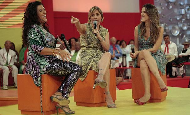Heloisa Perissé e Ingrid Guimarães comentam como é a vida em família e as situações engraçadas que viveram viajando juntas (Foto: TV Globo / Alex Carvalho)
