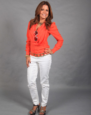 Nívea Stelmann caracterizada como Lavínia (Foto: Rafael França/ TV Globo)