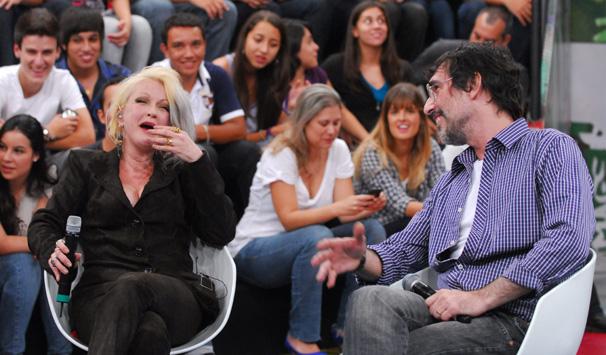 Altas Horas - Cindy Lauper (Foto: Zé Paulo Cardeal/ TV Globo)