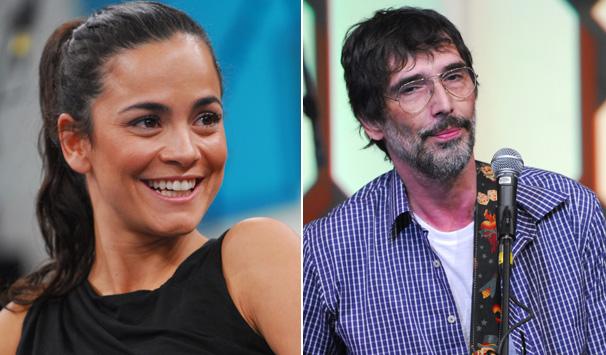 Altas Horas - Alice Braga e Lobão (Foto: Zé Paulo Cardeal/ TV Globo)