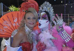 Isabelita dos Patins e Katiuscia Canoro (Foto: Blenda Gomes/ TV Globo)