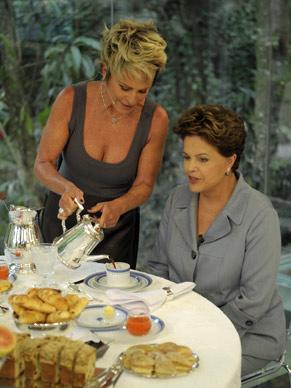 Ana Maria Braga e a presidente Dilma (Foto: Divulgação/ TV Globo)