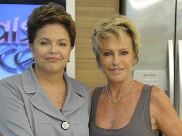 A presidente Dilma agradece oportunidade de ir ao Mais Você (Foto: Divulgação/ TV Globo)