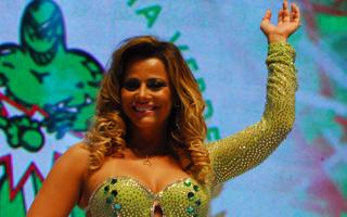 Viviane Araújo é Rainha da Bateria da Mancha Verde (Foto: TV Globo)