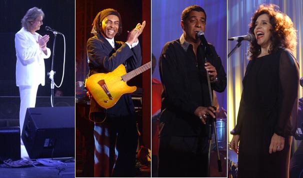 Roberto Carlos, Gilberto Gil, Zeca Pagodinho e Gal Costa fizeram shows na trama (Foto: Divulgação/ TV Globo)