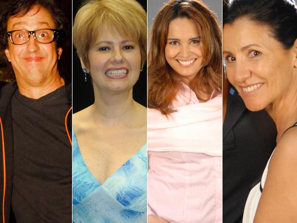 Narjara Tureta, Ary França, Suzy Rego e Casia Kis apresentam Morde & Assopra (Foto: Divulgação/ TV Globo)