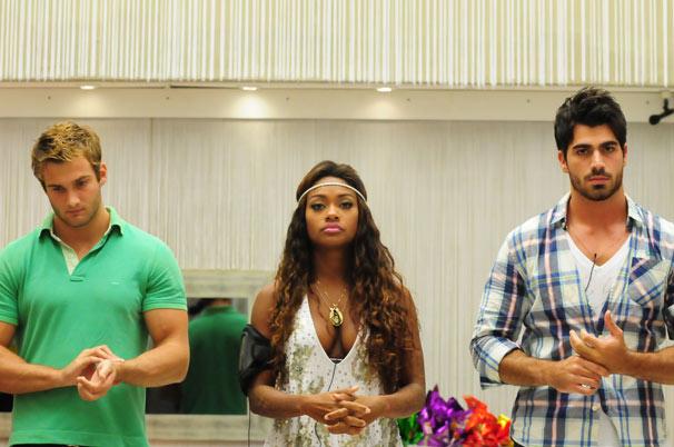 Wesley, Jaqueline e Rodrigão (Foto: TV Globo/Frederico Rozário)