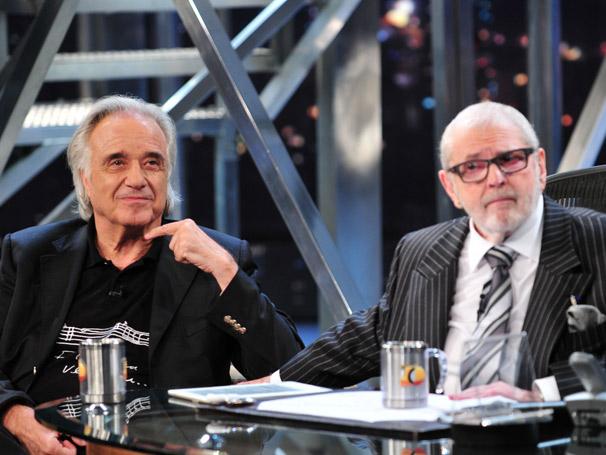 Jô Soares conversa com o maestro  João Carlos Martins nesta quinta-feira, dia 17 (Foto: TV Globo / Ricardo Martins)