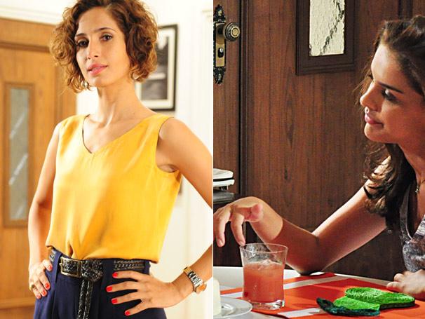 A sempre elegante Carol (Camila Pitanga) chama atenção com suas unhas vermelhas (Foto: TV Globo)