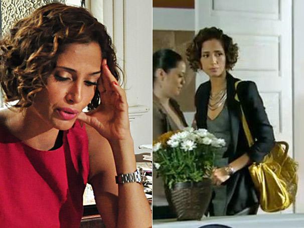 Carol (Camila Pitanga) possui o relógio mais desejado pelos telespectadores da Rede Globo (Foto: TV Globo)